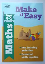 Early Learning Maths Workbook Children Ages 4-5 Reception School letts easy lear