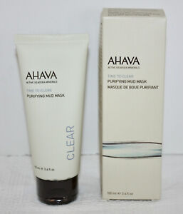 NIB AHAVA Time to Clear Purifying Mud Mask Active Deadsea Minerals  3.4 fl oz