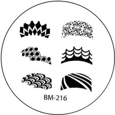 Stamping plaque Bundle Monster BM216 pour vernis ongles