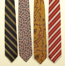 FACONNABLE lot of 4 SILK ties neck tie MADE IN FRANCE