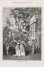 OLD ANTIQUE 1879 ENGRAVING PRINT SCENE FROM THE OPERA AIDA b118
