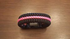 Thin Pink Line Breast Cancer Awareness Paracord Survival Bracelet
