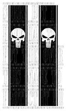 Punisher skull HI LUX L200 NAVARA 4X4 Pick Up Truck Side Stripe Graphique Vinyle