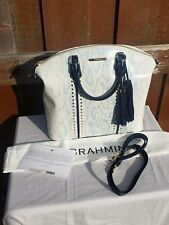 Brahmin Large Duxbury Sky Berwick Satchel Crossbody Shoulder Bag