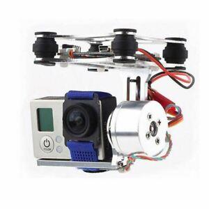 Soporte Gimbal 2 Ejes DJI Phantom 2208 Motors SJ4000 GoPro Camera 2 Axis Blanco