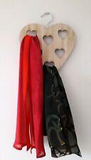 Wooden heart scarf hanger belt hanger wardrobe accessories organiser storage