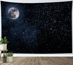 Mysterious Universe Starry Sky Planet Tapestry Wall Hanging Living Room Bedroom