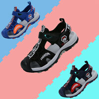 Childrens Girls Boys Sandals Shoes Closed Toe Breathable Outdoor Flat Slippers