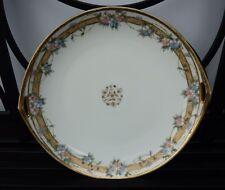 Rare Antique Nippon Morimura Hand-painted Handled Cake Plate Moriage Beaded