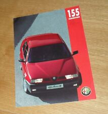 Alfa Romeo 155 Silverstone Brochure 1994