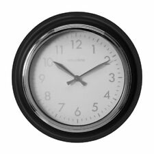 32cm Round Grey / Silver Wall Clock,Station Style.New.CRAZY CLEARANCE
