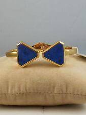 Ralph Lauren Polished Goldtone UNDER THE SEA Lapis Triangle Cuff Bracelet $68