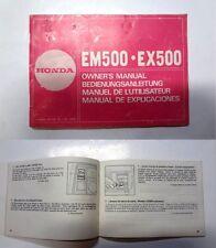 Manuale manual libretto uso manutenzione generatore generator HONDA EM EX 5000