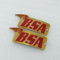 BSA Motorcycles C10 C11 B31 B33 Emblem Badge Fuel Tank Pair New Replacement Part