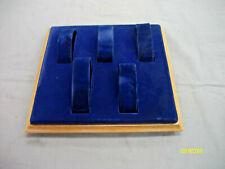 Vintage Retail Velvet 5 Watch Display Tray Blue