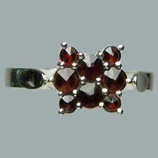 Size 7 Bohemian Rose Cut Garnet Sterling Silver Ring # SR-443 Jewelry Certificat