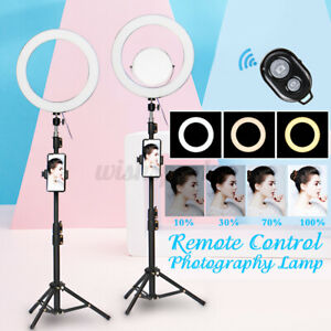 12.6'' Selfie Studio LED Ring Light with Stand Mirror & Remote For Camera  **a