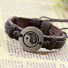 Bracelet Cuir Homme Femme Yin Yang