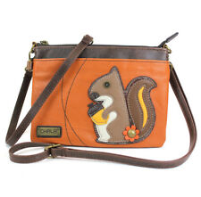 "Mini Crossbody, Squirrel, Orange, 8x6"" Convertible Shoulder Purse or Clutch"