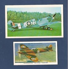 SUPERMARINE SPITFIRE  Battle of Britain Fighter Plane 1977 photo card + another