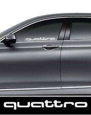 2 x Audi Quattro Vinyl Decal Auto/Furgone/AUTOCARRO/Paraurti/Finestra Adesivo Vinile JDM DUB