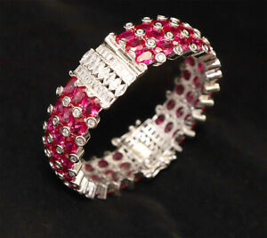 Cubic Zirconia Ruby Bangle Kada White Gold Plated 16 RBN 1