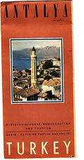 Antalya Turkey Manavgat Falls City Park Alanya Theatre Vintage Tourism Brochure