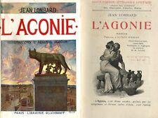 RARE EO N° 30 EXS JACQUES LOMBARD + AUGUSTE LEROUX + OCTAVE MIRBEAU : L'AGONIE