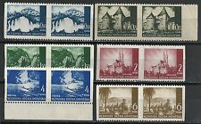 Croatia 1941 MI 6 Pairs vertical Imperforated   MLH/UNG  VF