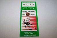 1991 NHL hockey playoff ticket BLACKHAWKS game B - 1stB