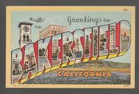 (43371) OLD LARGE LETTER POSTCARD GREETINGS from BAKERSFIELD, CALIFORNIA