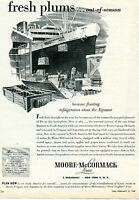1947 Print Ad of Moore McCormack Lines Argentina Fresh Plums Out of Season