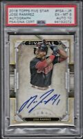 2018 Topps Five Star #FSA-JR JOSE RAMIREZ Autograph PSA 6 EX/MT