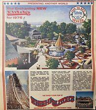 Elitch's Amusement Park Roller Coaster Color Print Ad Denver Colorado 1976
