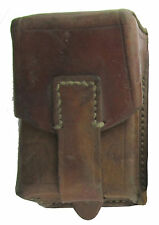 Brown Leather Pouch with Brass Fastener - Surplus - Serbian Leather Mag Pouch