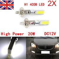 2x H1 4COB 20w High Power LED Light Bulbs Car Headlight Fog Driving Lamp DRL 12V