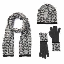 Michael Kors Scarf Hat Glove Set Monogram Grey One Size 537418c