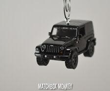 2014 Black Jeep Wrangler Unlimited Custom Christmas Ornament 1/64 Adorno SUV