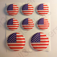 Stickers United States USA Gel Domed Resin 3D Flags USA Vinyl Sticker Decals