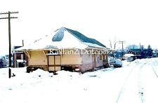 BALTIMORE & OHIO Railroad Station at Meyersdale, Pa. 1/70 ORIGINAL SLIDE PC0721