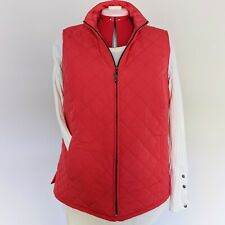 Orvis Women's Diamond Quilted Vest red Large Zipper