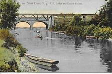 Silver Creek NY R R Bridge and double arches Vintage postcard postally used 1907