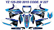 N227 YAMAHA YZ 125-250 2015 2016 2017 Autocollants Déco Graphics Stickers Decal