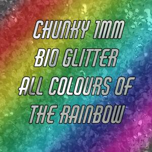 CHUNKY Biodegradable Glitter- 1mm -  Bio Glitter- Eco Friendly- Cosmetic Grade