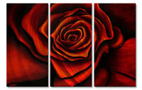 Metal Art Rose Red 2 by Osnat Abstract Modern Contemporary Wall Sculpture Décor