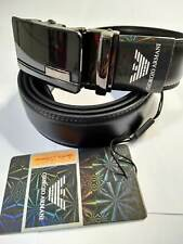 A10 BLACK LEATHER MAN BELT 52''  AOTUMATIC BUCKLE SHIPPING WITH TRACKING NUMBER