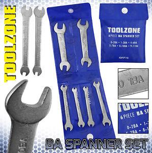 6pc BA Spanner Set 0 - 11BA Precision Open Ended Wrench Set