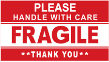 More details for handle with care  self adhesive fragile sticker warning shipping logistic labels