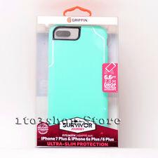 Griffin iPhone 7 Plus Slim Case, Thin Protective Cover, Survivor Journey Mint/Wh