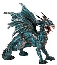 Standing Blue Dragon Fine Detailing 8 inch Sculpture Figurine Statue GSC71558